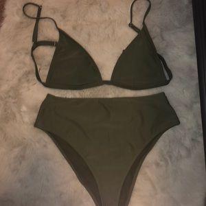 Olive Green bikini - worn once